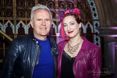 Rachael with Howard Jones - photo by Amanda Rose