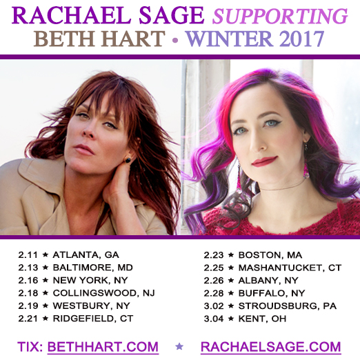 Rachael on tour with Beth Hart