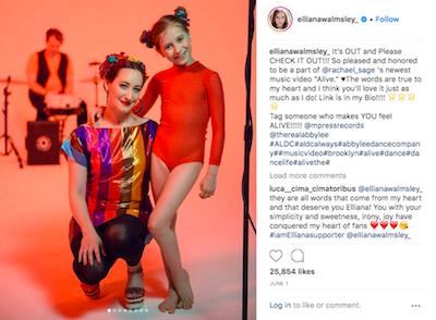 Elliana Walmsley Instagram Post