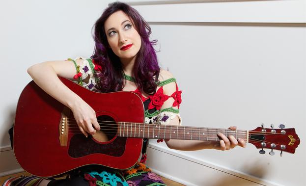 Rachael and guitar