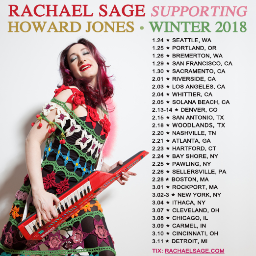 Rachael Sage on tour w/Howard Jones - photo by Tom Moore
